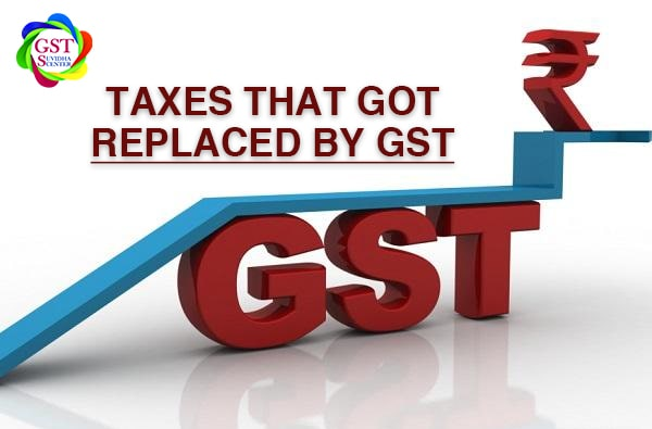 Taxes that got replaced by GST !!